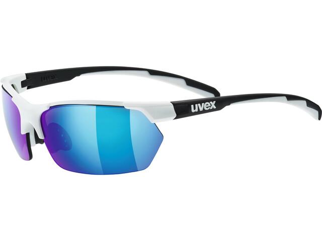 UVEX Sportstyle 114 Sportglasses white black matt/mirror blue